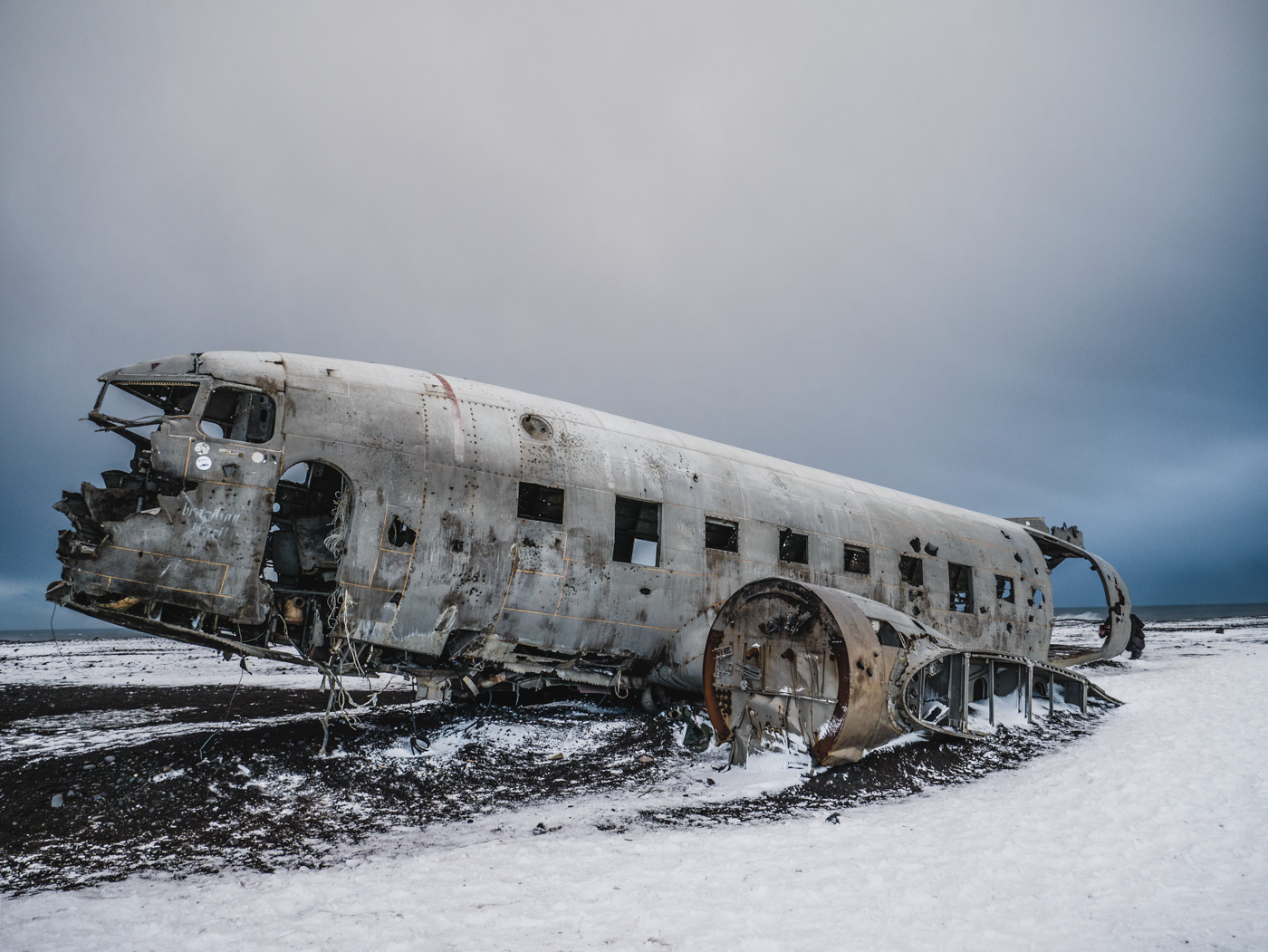 Plane wreck Iceland