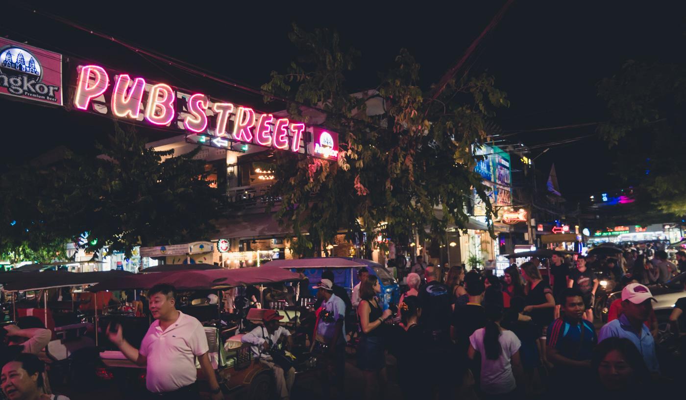 Siem Reap Cambodia pub street