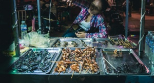 siem reap cambodia eating scorpion