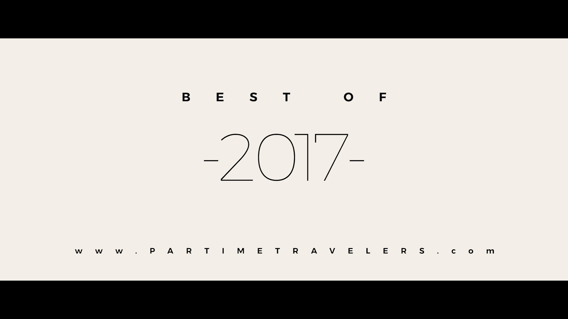 2017 travel video